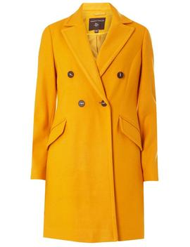 Ochre Double Breasted Coat by Dorothy Perkins