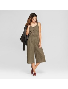 Women's Button Front Jumpsuit   Universal Thread™ Olive by Universal Thread™