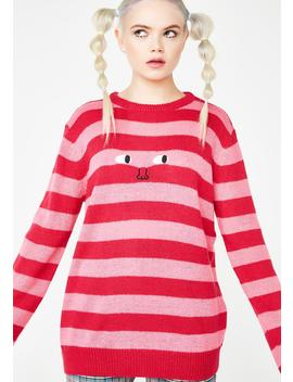 Face It Stripe Tee by Lazy Oaf