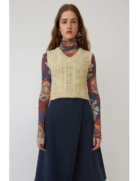Cropped Sweater Vest Off White by Acne Studios
