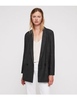 Harriet Check Blazer by Allsaints