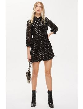 Polka Dot Shirt Dress by Topshop