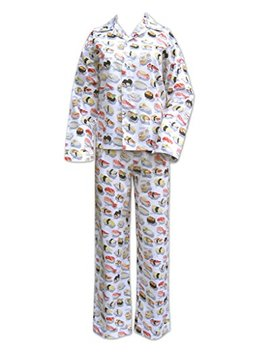 The Cat's Pajamas White Sushi Women's Flannel Pajama by The Cat's Pajamas