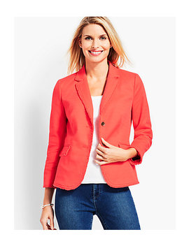 Textured Fringe Blazer by Talbots