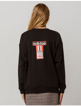 Adidas 3 Stripes Coral Womens Sweatshirt by Adidas