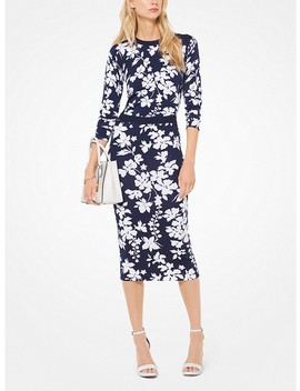 Floral Stretch Viscose Pullover by Michael Michael Kors