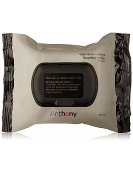 Anthony Glycolic Exfoliating And Resurfacing Wipes, 30 Wipes by Anthony