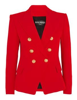 double-breasted-crepe-blazer by balmain