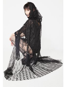 Night Mistress Lace Cape by Dreamgirl