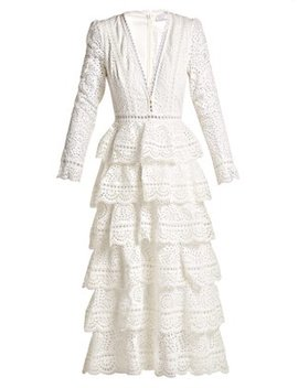 Bayou Cotton Broderie Anglaise Midi Dress by Zimmermann