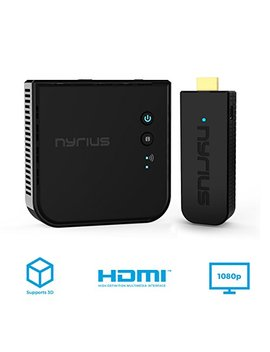 Nyrius Aries Pro Wireless Hdmi Transmitter Receiver To Stream Hd 1080p 3 D Video From Laptop, Pc, Cable, Netflix, You Tube, Ps4, Xbox 1, Drones, Pro Camera, To Hdtv/Projector/Monitor (Npcs600) by Nyrius