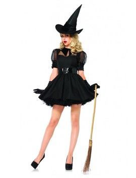 Black 3 Pc. Bewitching Witch Costume by Ami Clubwear