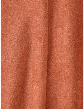 Zaful Zip Up Faux Suede Mini Dress   Brown S by Zaful