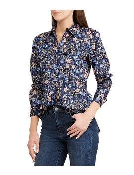 Floral Print Cotton Sateen Shirt by Lauren Ralph Lauren