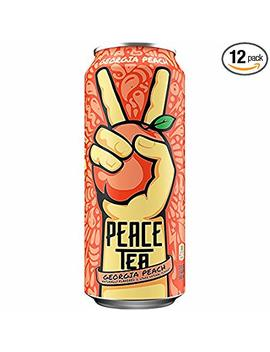 Peace Tea Georgia Peach Sweet Tea Drinks, 23 Fl Oz, 12 Pack by Peace Tea