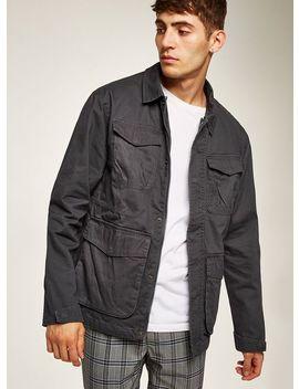 Grey Utility Jacket by Topman