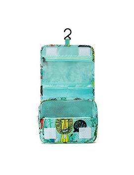 Travel Toiletry Bags, Tuscall Waterproof Hanging Cosmetic Makeup Organizer Bag Shower Bag Double Layer For Men & Women   Perfect For Travel Accessories, Cosmetics, Personal Items, Shampoo (Animal) by Tuscall