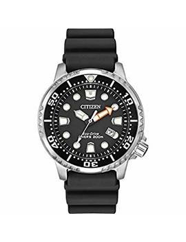Citizen Watch Promaster Diver Men's Solar Powered Watch With Black Dial Analogue Display And Black Rubber Strap Bn0150 28 E by Citizen
