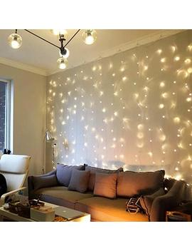 Fefelightup Battery Operated Curtain String Lights Fairy Light With Remote 8 Mode, 9.8 Ft ×9.8 Ft Update Version (Warm White) by Fefelightup