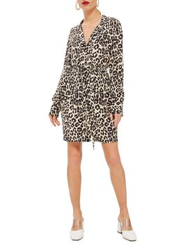Leopard Print Pajama Shirtdress by Topshop