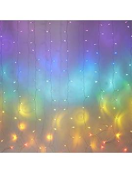 Fefelightup Rainbow Curtain Lights Fairy Lights Icicle Lights Fantasy Unicorn (Rainbow) by Fefe