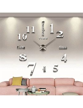 Modern Large 3 D Wall Clock Numbers Letters Diy 3 D Stickers Clock Office Home Decor Gift by Gufan