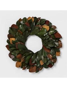 Wreath Dried Leaf   Green/Red/Yellow    Smith & Hawken™ by Smith & Hawken™
