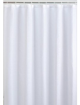 Mildew Resistant Fabric Shower Curtain Waterproof/Water Repellent & Antibacterial, 72x72   White by Li Ba