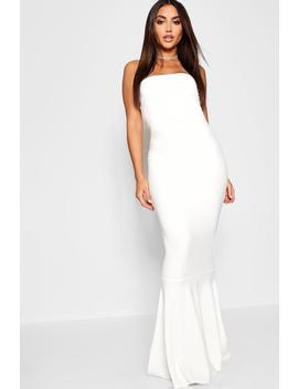 Bandeau Fishtail Maxi Dress by Boohoo