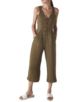 Liza Linen Button Jumpsuit by Whistles