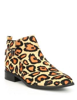Tami Waterproof Leopard Block Heel Booties by Blondo