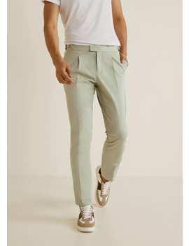 Pantaloni Chino Regular Fit Pinces by Mango