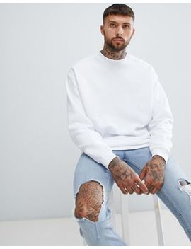Asos Design Oversized Sweatshirt In White by Asos Design