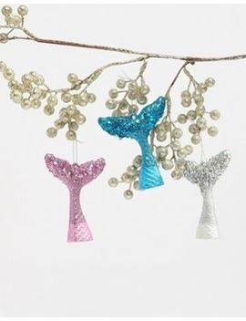 Paperchase Christmas Mermaid Tails Decorations by Paperchase
