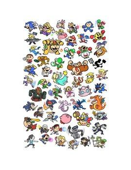 "Super Smash Bros 13x19"" Art Print by Metagame Mike"