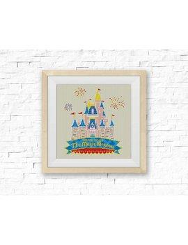 Bogo Free! Disney Castle Cross Stitch Pattern, Disney World Cross Stitch Chart, Needlecraft Embroidery Needlework Pdf Instant Download #037 by Stitch Line