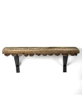Union Rustic Mateer Scalloped Wood Rustic Floating Shelf by Union Rustic