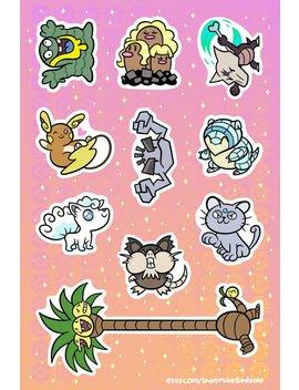 "Alolan Pokemon 6x4"" Sticker Sheet by Metagame Mike"