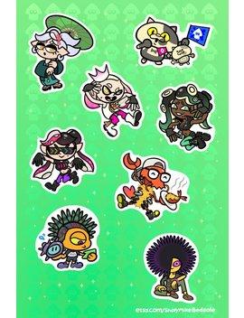 "Splatoon 2 Idols 6x4"" Sticker Sheet by Metagame Mike"