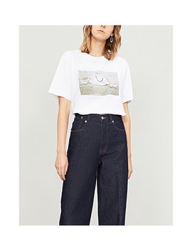 10th Anniversary Cotton Jersey T Shirt by Victoria Beckham