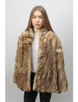 Real Fur Coat   Vintage Fur Coat   Women Winter Coat   1980s Fancy Coat   Classic Warm Winter Jacket   Animal Pelt Coat by Hf Rwardrobe