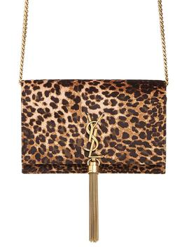 Kate Leopard Print Wallet On A Chain by Saint Laurent