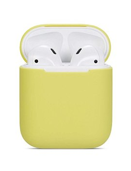 Zalu Air Pods Case Protective Silicone Cover And Skin For Air Pods Charging Case (0.8mm Ultra Thin Version) (Yellow) by Zalu