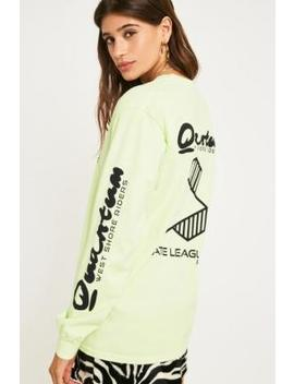 Quantum Fluorescent Yellow Long Sleeve T Shirt by Urban Outfitters