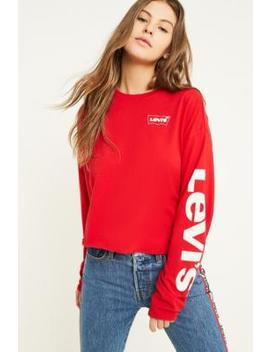 Levi's Graphic Logo Long Sleeve Crop T Shirt by Levi's