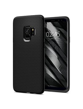 Samsung Galaxy S9 Case, Spigen® [Liquid Air] Galaxy S9 Case With Light But Durable Flexible Protection With Geometric Pattern For Samsung Galaxy S9 (2018)   Matte Black   592 Cs22833 by Spigen
