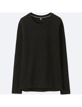 Women Heattech Stretch Fleece Crewneck Long Sleeve T Shirt by Uniqlo