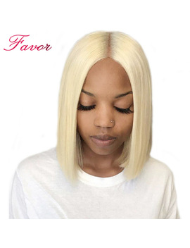 150 Percents Density Lace Front Human Hair Wigs 613 Blonde Short Bob Straight Lace Wigs Brazilian Remy Human Hair Pre Plucked Hairline by Favor Hair