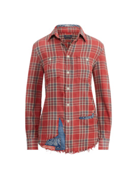 Patchwork Relaxed Fit Shirt by Ralph Lauren