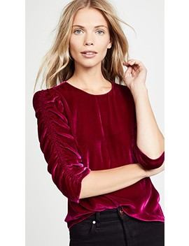 Velvet Ruched Top by Rebecca Taylor